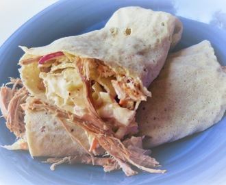 Wraps med pulled pork och coleslaw