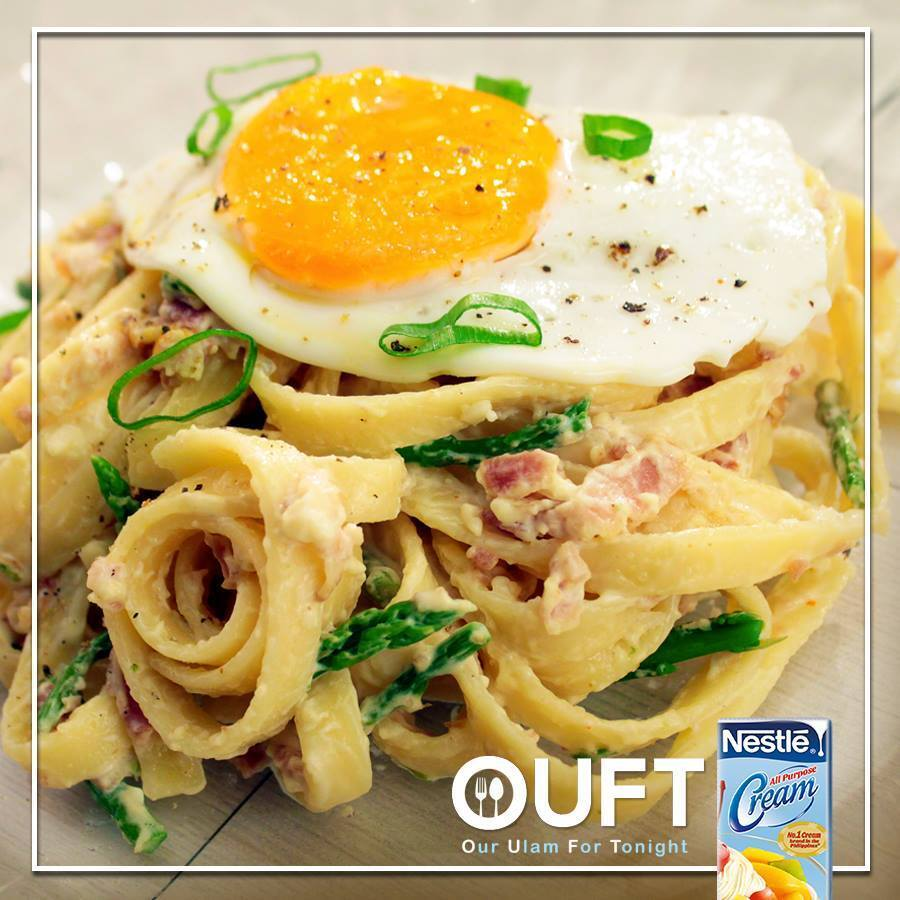 Creamy Bacon and Egg and Pasta Recipe
