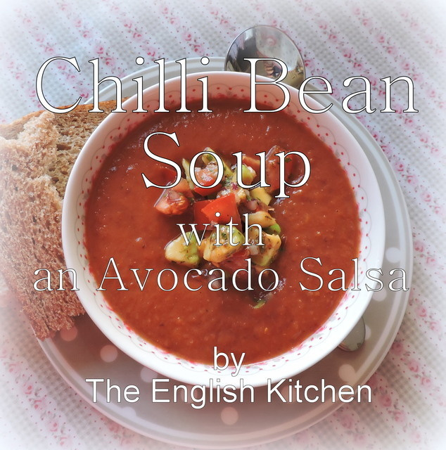 Chilli Bean Soup with an Avocado Salsa