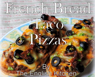 French Bread Taco Pizzas