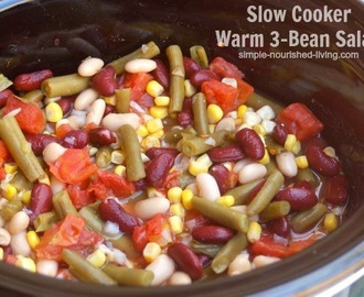 Warm Slow Cooker 3-Bean Salad