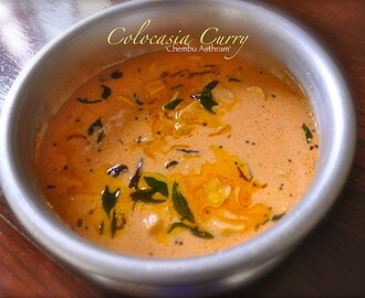 Colocasia Curry – Taro Root – Chembu Curry