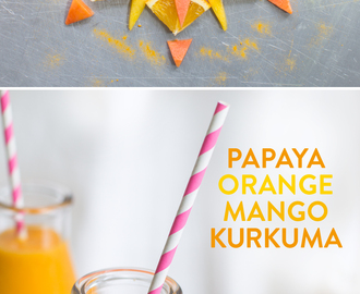 Lass die Sonne rein…Papaya-Orange-Mango-Kurkuma Smoothie zum #Smoothiemontag