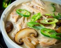 Creamy Chicken, Mushroom, and Green Chilli Soup