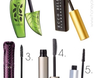 The Best Natural Makeup: Mascaras