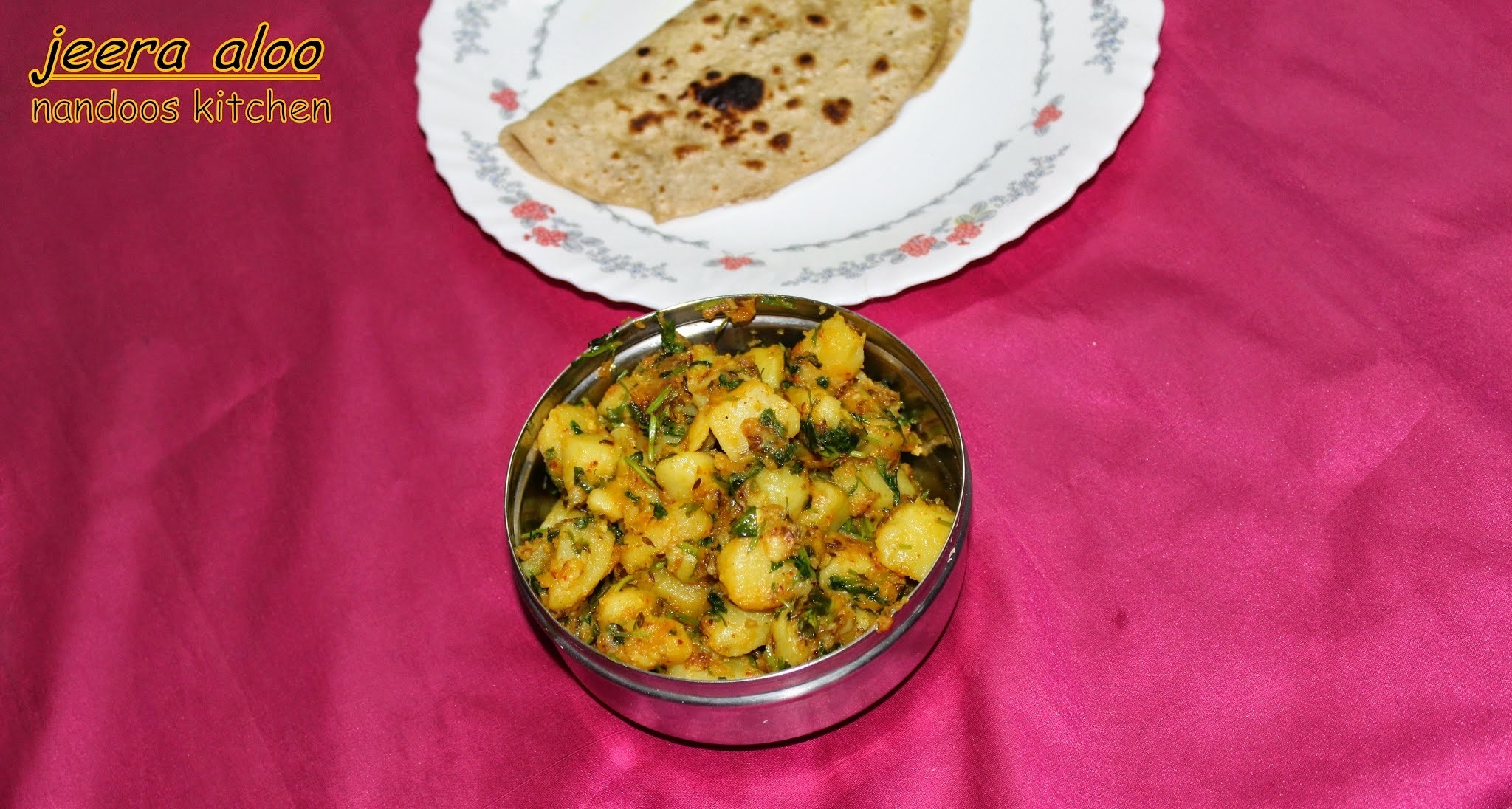 Jeera aloo / potato with cumin / side dish for roti, rice
