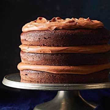 Country Chocolate Cake with Milk Chocolate Frosting