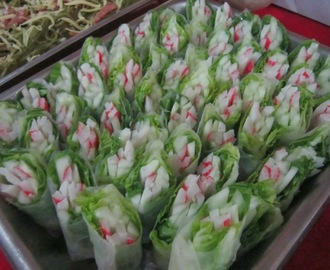 CRAB STICKS and CUCUMBER SPRING ROLL