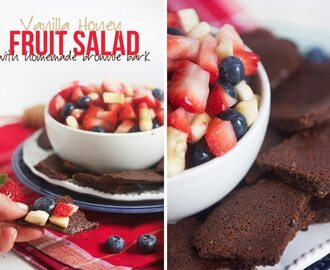Healthy Food Friday: Raw Honey (Vanilla Honey Fruit Salad & Brownie Bark Chips)