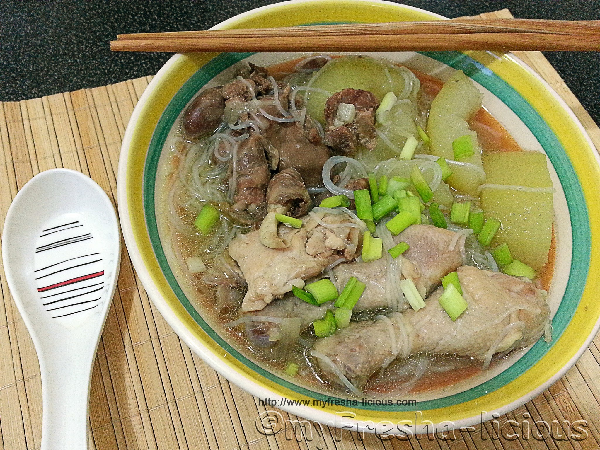 Chicken Tinola Noodle Soup