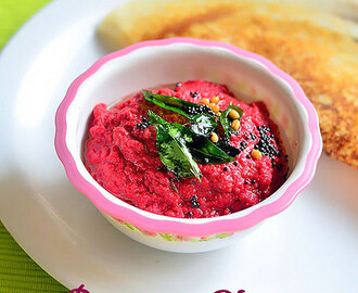 Beetroot Chutney – Beetroot Chutney With Coconut For Dosa, Idli