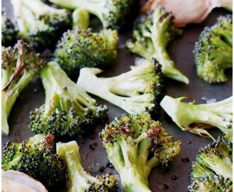 Oven Roasted Broccoli with Garlic