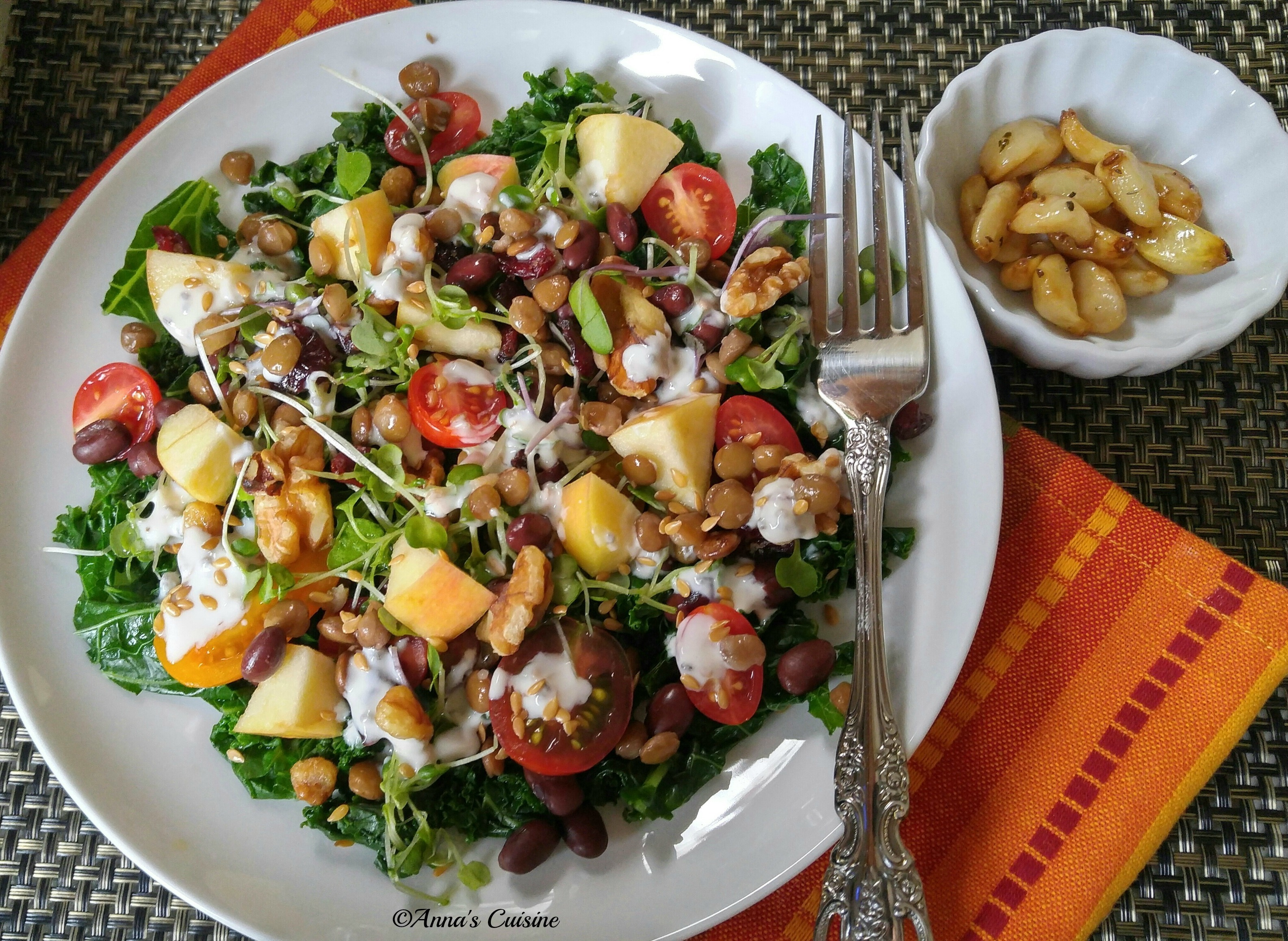 Nutrient-Rich Salad with Homemade Greek Feta Dressing