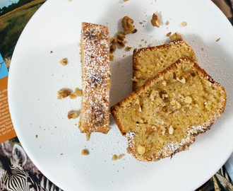 Plumcake integrale allo yogurt greco e noci senza burro / Whole-wheat plumcake with greek yogurt