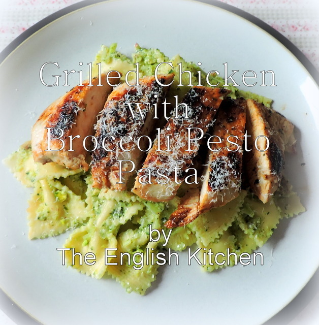 Grilled Chicken with Broccoli Pesto Pasta
