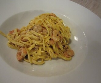 Scampi Curry Pasta