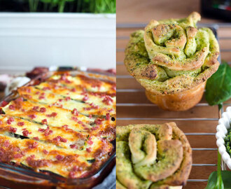Zoodle Lasagne und Pull-apart-breadflowers (Reklame)