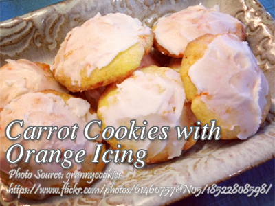 Carrot Cookies with Orange Icing