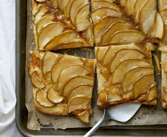 PEAR TART WITH ORANGE MARMALADE GLAZE