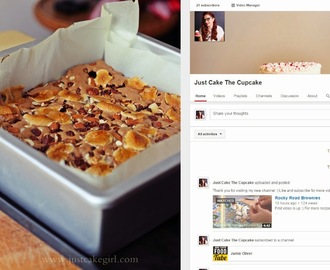 Rocky Road Brownies + Just Cake The Cupcake YouTube kanal