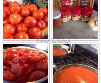 Home Made Tomatoe ketchup ( Maggi Hot & Sweet style )