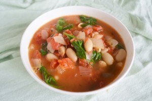 Tomato Cannellini Soup with Spinach