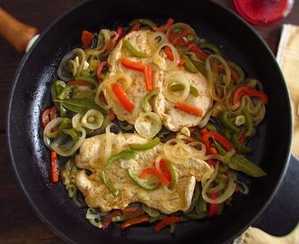Turkey steaks with peppers | Food From Portugal