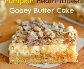 Pumpkin Heath Toffee Gooey Butter Cake