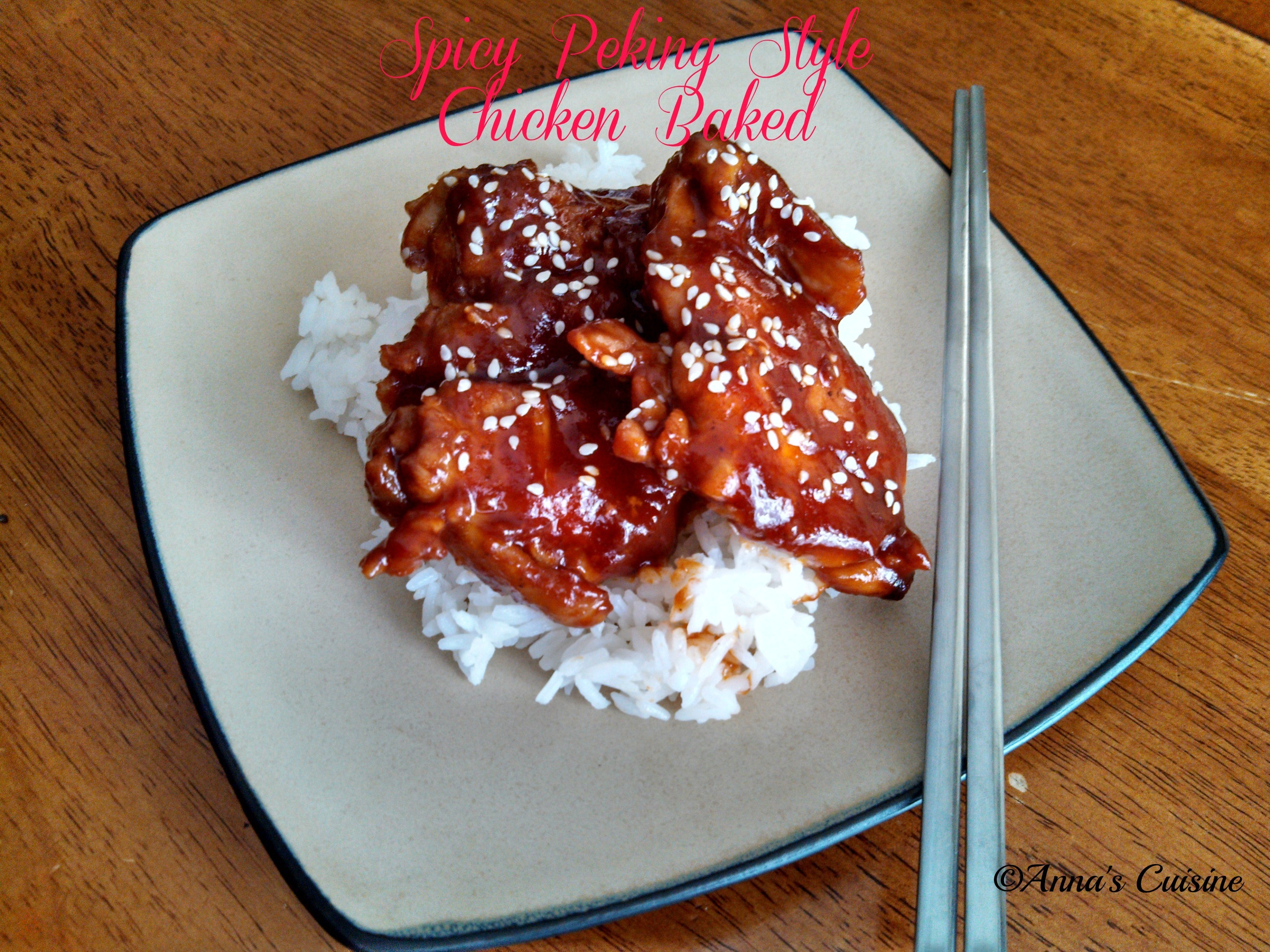 Spicy Peking Style Chicken Baked