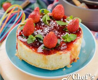 Vanilla Sponge Cake with Strawberry Compote Recipe