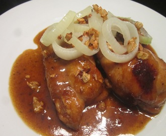 BRAISED CHICKEN in HICKORY BARBEQUE SAUCE