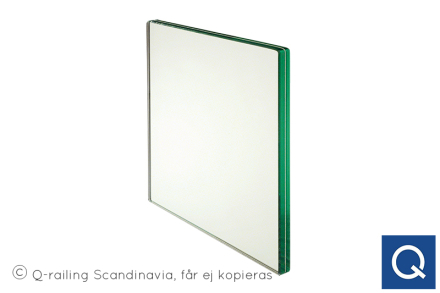 Q-line glas 876 mm Glasskiva 876x920x1300mm