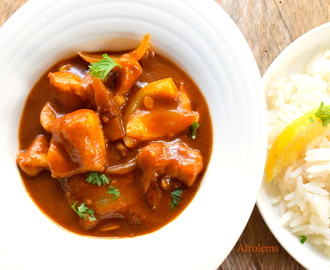 Tomato Chicken Curry with Rice