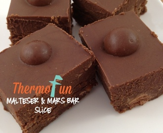 ThermoFun – Wicked Wednesday – Malteser and Mars Bar Slice Recipe