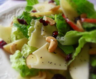 Winter Fruit Salad with a Lemon and Poppy Seed Dressing