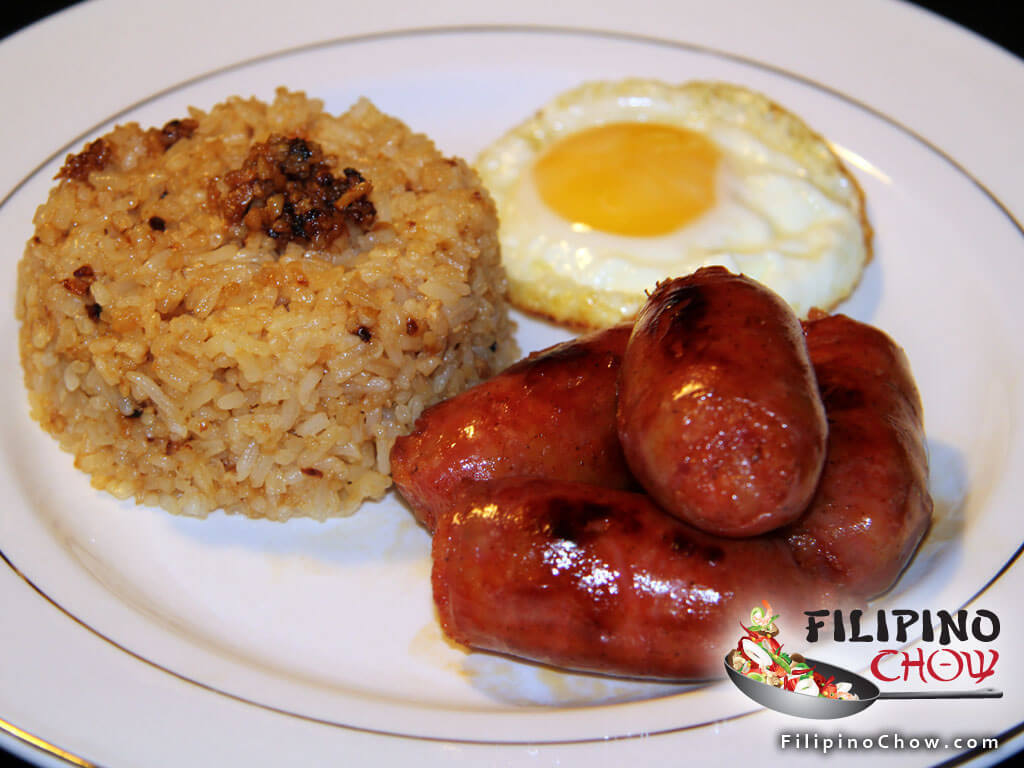 Longsilog (Sausage with Garlic Rice and Fried Egg)