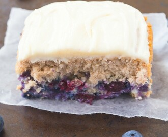 Healthy Flourless Blueberry Breakfast Cake