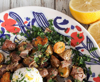 Roasted Potatoes with Anchovies and Greek Yogurt