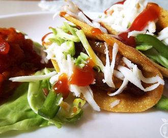 Healthy Mexican Veggie Tacos with Spicy Kidney Beans