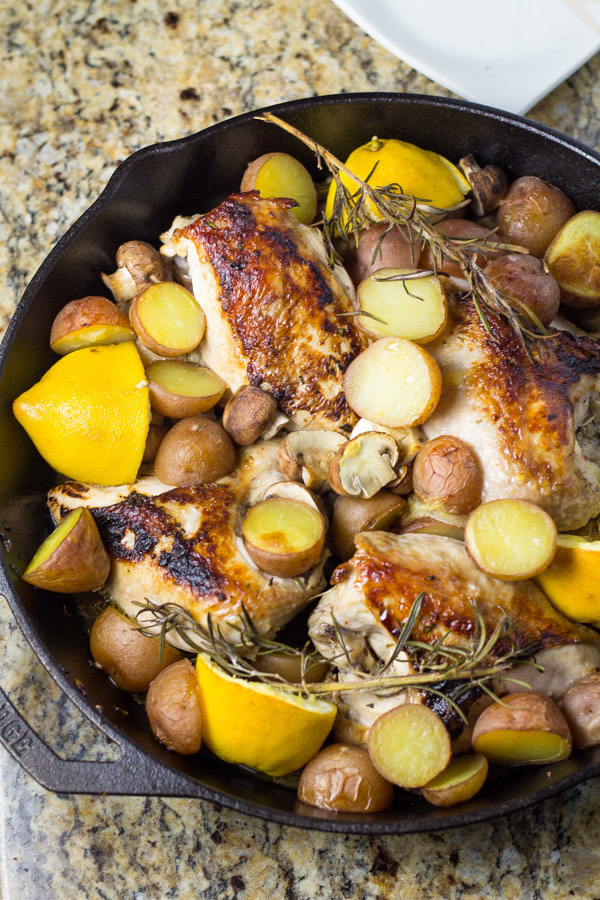 Skillet Chicken Breast with Rosemary & Lemon