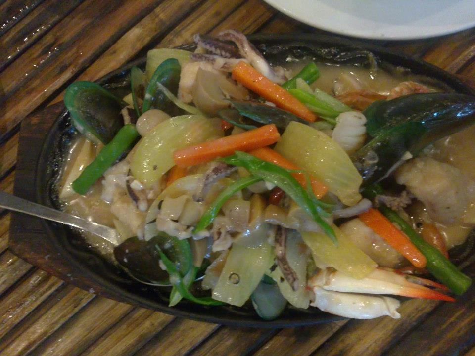 Sizzling Seafood, Bicol Style