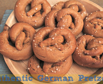 Authentic German Pretzels#BreadBakers