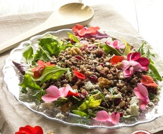 Colorata insalata di Lenticchie e Orzo - Nutty Barley and Lentils Salad