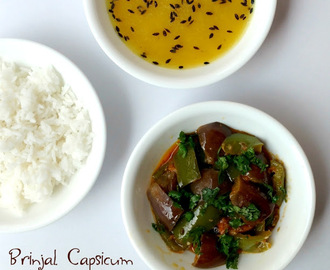 Brinjal Capsicum Sabzi | How to Make Baingan Shimla Mirch ki Sabzi
