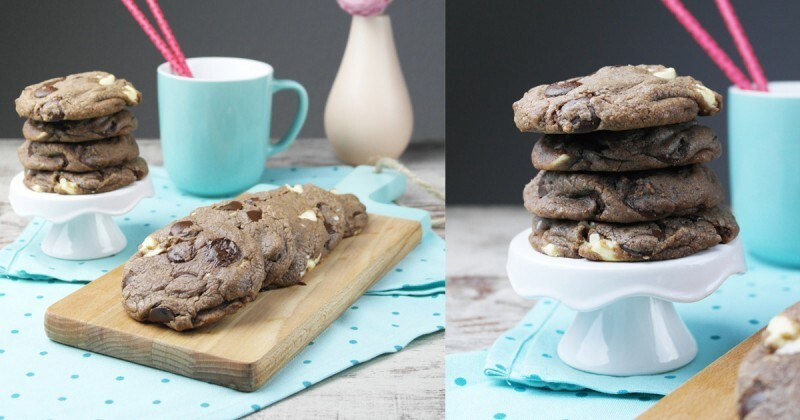 Soft Nutella Double Chocolate Chip Cookies – Cookie Friday with Nom Noms Treats of Life