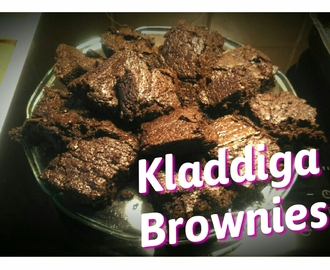 Recept: Kladdiga Brownies