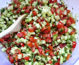 Israeli Vegetable Salad