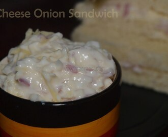 Cheese Onion Sandwich Recipe / Cheese Onion Sandwich spread Recipe