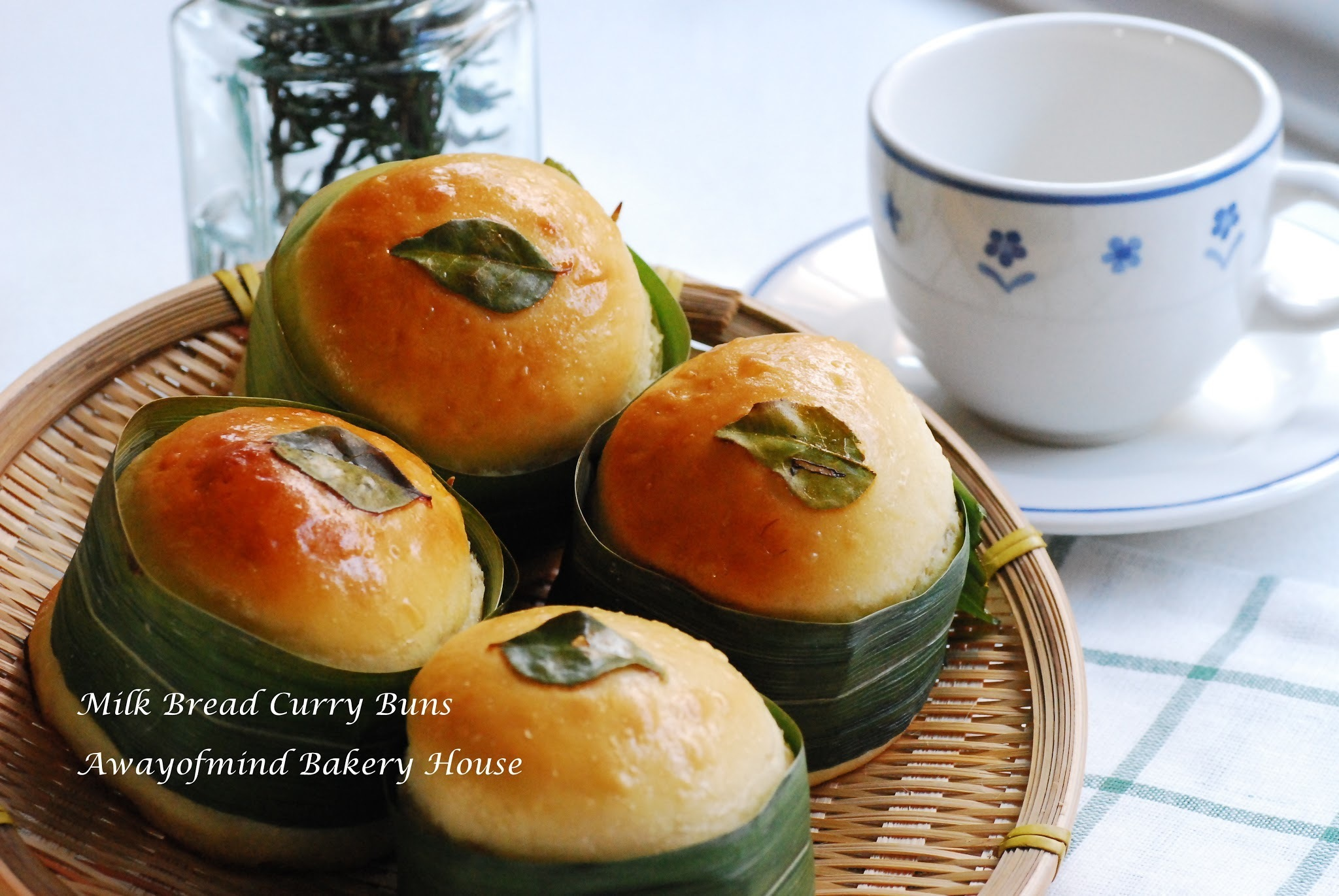 Milk Bread Curry Buns 柔软咖哩面包 (65C Tangzhong Method)
