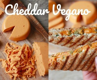 CHEDDAR VEGANO | IDEA DE GRILLED CHEESE (Saludable, Sin Soya, Sin Frutos Secos)